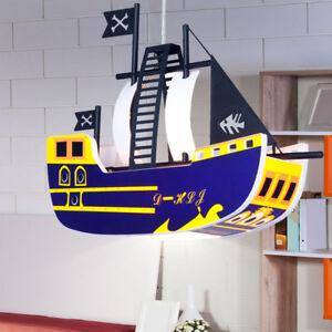 Kinderzimmer Hängeleuchte Deckenleuchte Beleuchtung Piraten Schiff ...