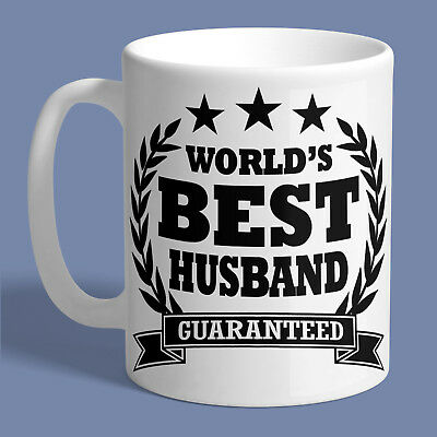 WORLDS BEST HUSBAND MUG Ceramic Coffee Tea Cup Printed Funny Birthday Gift New