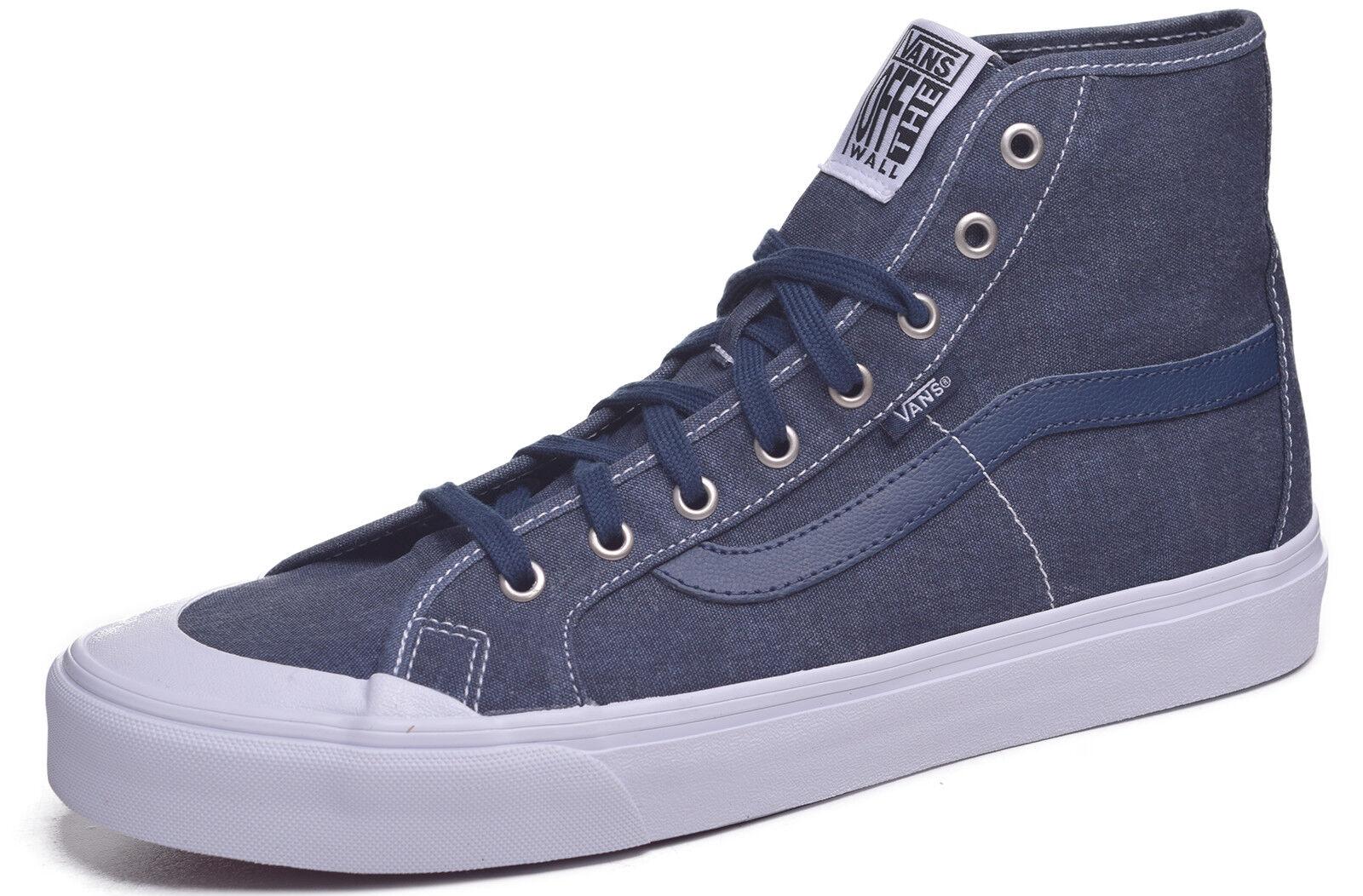Vans Schwarz Blauen Manner Grosse Waschen Kleid Skateboard Schuhe