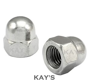 UNF-DOME-NUTS-A2-STAINLESS-STEEL-HEX-ACORN-10-1-4-034-5-16-034-3-8-034-1-2-034-5-8-034-1-2-034