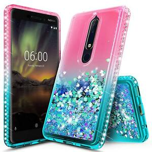 the latest 6008e 7d9f0 Details about Nokia 6.1 (Nokia 6 2018) Case | Liquid Glitter Shockproof  Bling TPU Cover