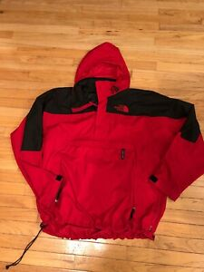 2f31a0569 Details about Men's Vintage The North Face Windbreaker Jacket XL Red  Packable Hiking Travel
