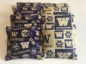 Incredible Details About University Of Washington Huskies 8 Cornhole Bean Bags Toss Game Tailgate Toss Lamtechconsult Wood Chair Design Ideas Lamtechconsultcom