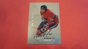 1995-96-UPPER-DECK-BE-A-PLAYER-118-ANDREI-KOVALENKO-AUTOGRAPH-MONTREAL-CANADIENS