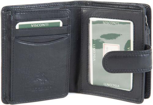 Visconti Para Mujer Pequeño De Cuero Suave Zip alrededor Bolso Cartera En 4 Colores ht31