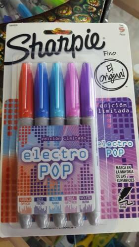 Sharpie Sanford Permanent Marker Fine Pt  5 Pack Asst Colors Electro Pop 1968829