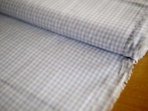 Hilco Vichy cuadros 3 mm algodón camisas de tela a cuadros H /'azul-blanco vestidos de tela