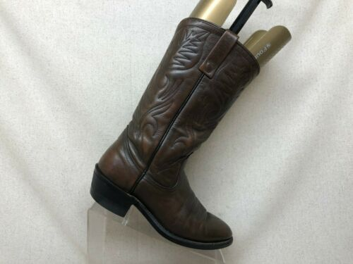 VTG RED WING Pecos Brown Leather Cowboy Western Bo