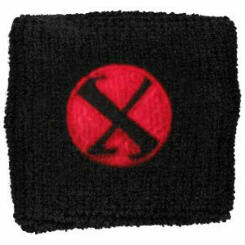 Christina Aguilera Men/'s X Athletic Wristband Black Terry Cloth