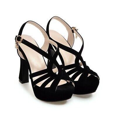 women heel strappy high sandals platform fashion shoes