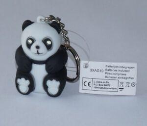 Schlüsselanhän<wbr/>ger in Form eines Panda Bären mit LED-Licht und Sound