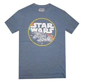 Star-Wars-Millennium-Falcon-Circle-Flight-Navy-Heather-Men-039-s-T-Shirt-New