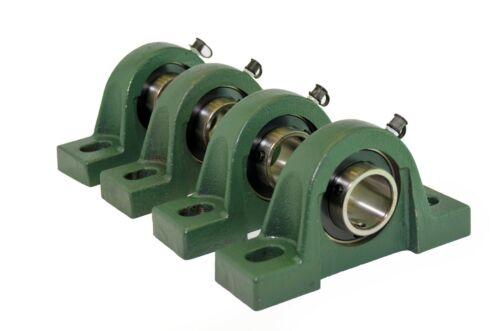 "Qty 4 UCP206-20 1-1//4/"" Solid Base Pillow Block Bearing Unit"