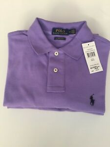 Sleeve In Rrp Shirt Polo Short Ralph Men's nbsp; £75 Lauren Size M Purple xPIgn