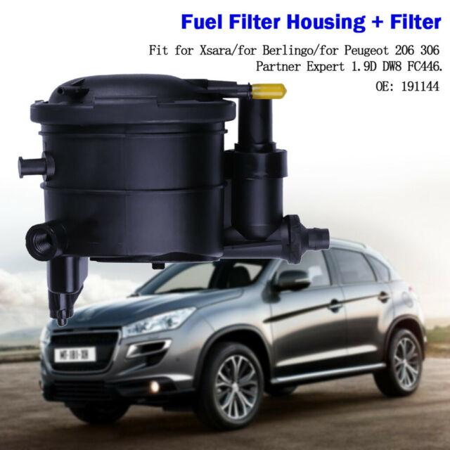 2 Pipes Peugeot 206 306 307 406 607 806 807 Partner Expert Fuel Filter Housing