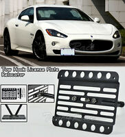 For 2008-up Maserati Gran Turismo Front Bumper Tow Hook License Plate Bracket