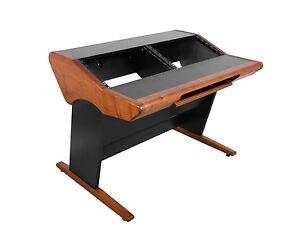 Details About Zaor Onda Mack 12   Studio Workstation Desk With 2x6 RU    Cherry Finish