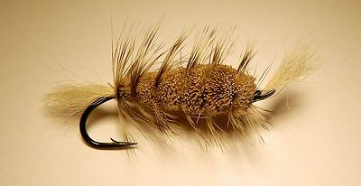 Bomber Natural  - grizzly Hackle- White tail size #6  Salmon Hook
