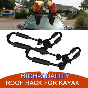 Foldable Kayak Carrier Canoe Boat Fold Rack Holder Snowboard J-Bar Roof Top Pair