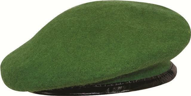 Mens Ladies Kids Green Army Style Wool Beret Hat Cap Retro Fashion Fancy  Dress 1ba7690464b