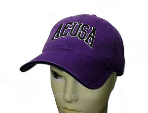 37f97c39f4a1a NWT AMERICAN EAGLE OUTFITTERS AEO 90 S LOGO HAT ADJUSTABLE PURPLE ...