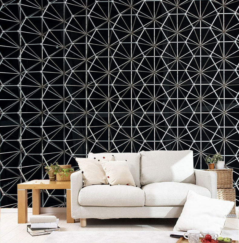 3D White Lattice Pattern Paper Wall Print Wall Decal Wall Deco Indoor Murals