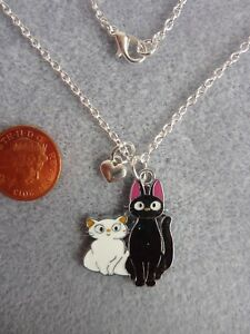 Details About JIJI Black Cat Pendant Necklace 18 Birthday Gift Kikis Delivery Service 220