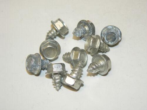 "Zinc Plated 100 Pcs. #14 x 3//8/"" Hex Washer Head Un-Slotted Sheet Metal Screws"