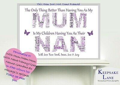 Mothers Day Birthday Nana Nannan Grandma Granny Framed Grandchildren Gift