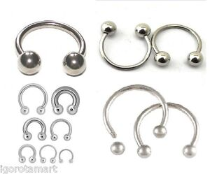 2017 Body Piercing Jeweller Horseshoe Septum Piercing Nose Lip Ring Ear Shoe Bar