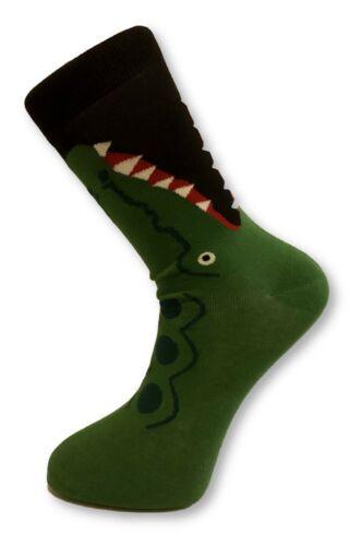 Frederick Thomas crocodile mens novelty cotton socks