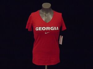 Chemise mode v Nike en col à Ncaa la Georgia New profond Bulldogs à TPn011U