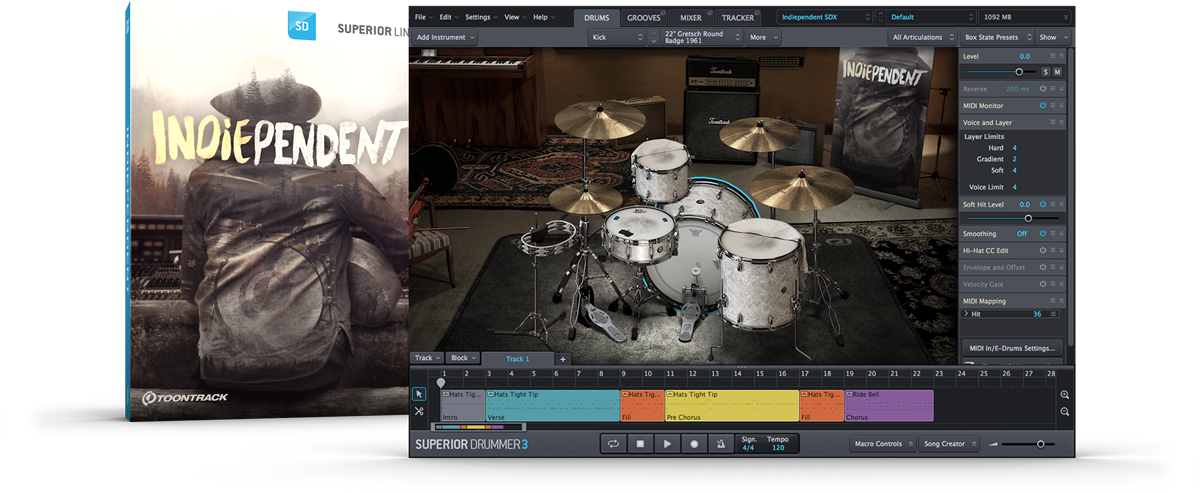 Toontrack Superior Drummer SDX - Indiependent - New Serial License Key