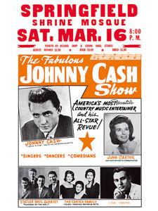 Johnny Cash - Shrine Mosque Concert Poster reprint (1968)