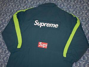 75060454625a Supreme Size SMALL Stadium Parka FW17 Box Logo Jacket Slate Blue ...