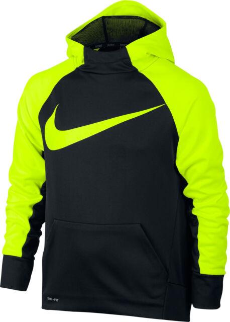 Nike Boy's THERMA TRAINING DRI FIT Hoodie ** BLACKVOLT Small ** NWT