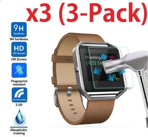 3-Pack-Real-Tempered-Glass-Film-Screen-Protector-For-Fitbit-Blaze-Smart-Watch