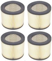 (4) Shop-vac 90398-33 Cartridge Air Filter For Hang Up Pro Wet/dry Vacuums