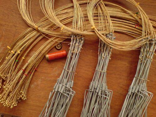 antiparasitaires Rabbit pièges pack de 10 clôture ensembles, fil de laiton Snare boucle seulement