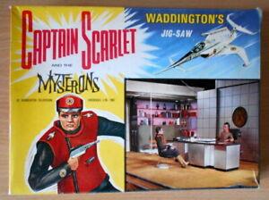 Captain-Scarlet-amp-The-Mysterons-Jigsaw-Puzzle-1967-Original-Rare-TV-Series