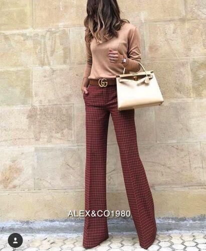 Pantaloni l rossi Xs m neri Pantaloni quadri a Aw18 Zara nwt Rare maschili wq0v7SzSP