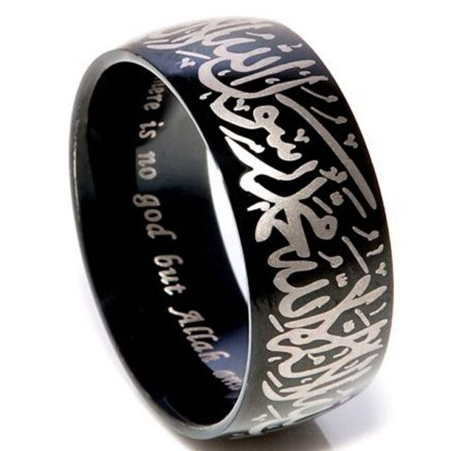 Size 7-15 Islamic Ring Allah Arabic Aqeeq Shahada Arabic God Messager Muhammed