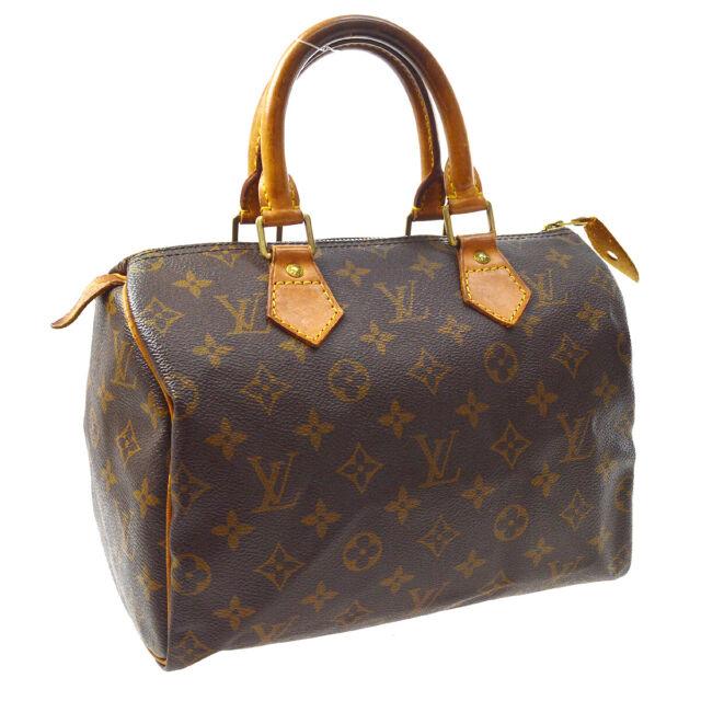 LOUIS VUITTON SPEEDY 25 HAND BAG PURSE MONOGRAM CANVAS VI0934 M41528 A54354a