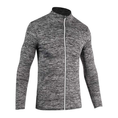 Men Cycling Shirt Long Sleeve Running Tops Wicking Sports Elastic Jogging Coats