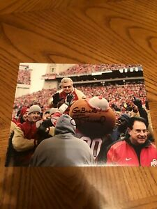 JIM TRESSEL OHIO STATE BUCKEYES SIGNED AUTOGRAPHED 8X10 PHOTO 2002 CHAMPS 2