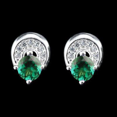 14KT White Gold Natural Green Emerald 1.75 Carat EGL Certified Diamond Ring