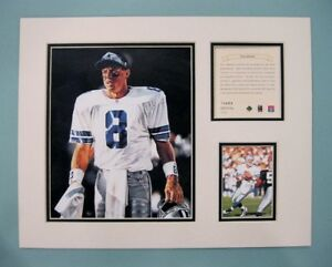 Dallas Cowboys TROY AIKMAN 1996 NFL Football 11x14 MATTED Kelly Russell Print