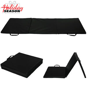 68b057144bb0 Image is loading Gymnastics-Mats-Black-Thick-Folding-Gym-Exercise-Fitness-