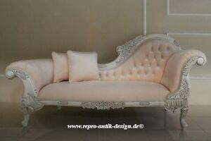 chaiselongue sofa louis barock antik alt wei barocksofa kristallsteine shabby ebay. Black Bedroom Furniture Sets. Home Design Ideas
