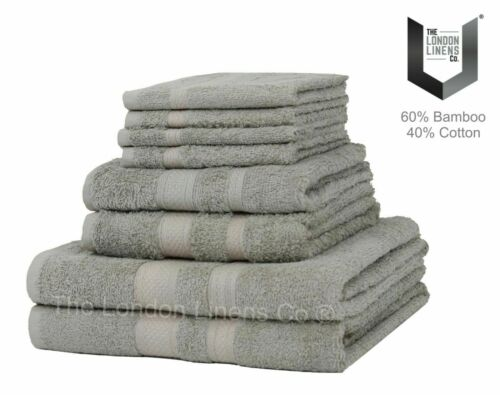 8 Piece BAMBOO Towel Bale Set LUXURY Egyptian Natural 60/% Bamboo 40/% Cotton